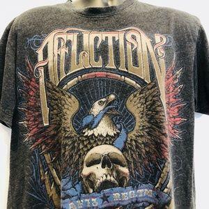 Affliction Skulls Mens Graphic T Shirt American xl